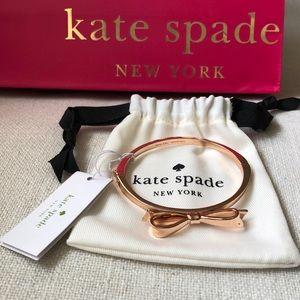 Kate Spade Love Notes Rose Gold Bow Bracelet
